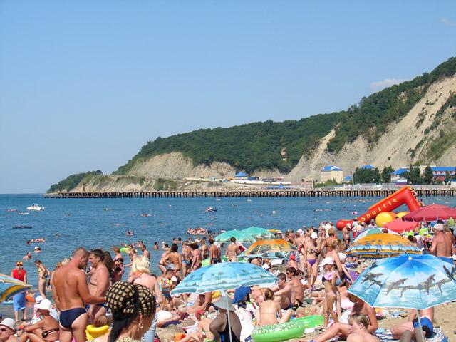Лермонтово - пляж