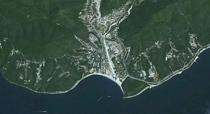 Курортный поселок Ольгинка - вид сверху